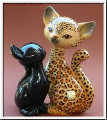 Leopard Kitty de luxe in Love von Goebel 18 cm