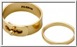 Vergoldeter Ring von Pilgrim Industrie Look