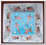 James Rizzi Schale, Fly on My Sweet Angels 23,5 cm