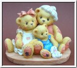 Penny, Chandler & Boots Familienglück Cherished Teddies 10 x 7,5 cm