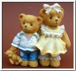 Geschwister Bernard and Bernice Cherished Teddies 7,5 cm