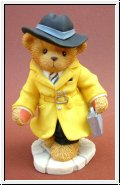 Dedektiv T.James Bear Gelb Cherished Teddies 10 cm