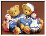 Rosemarie and Ronald, Kinder mit Puppen, Cherished Teddies 8 x 12 cm