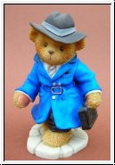 Dedektiv T.James Bear Blau Cherished Teddies 10 cm