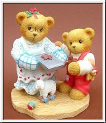 Pamela & Grayson, Plätzchen backen Cherished Teddies 10 cm