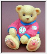 Quitscheteddy Toybox Rot Teddies Cherished Teddies 8 cm