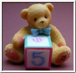 Number 5 Block Mini Figur Cherished Teddies 4 cm