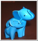Mini Elephant de luxe von Goebel in blau 6,5 cm