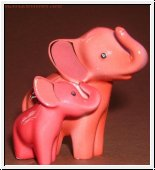 Mini Elephant de luxe von Goebel in rot 6,5 cm